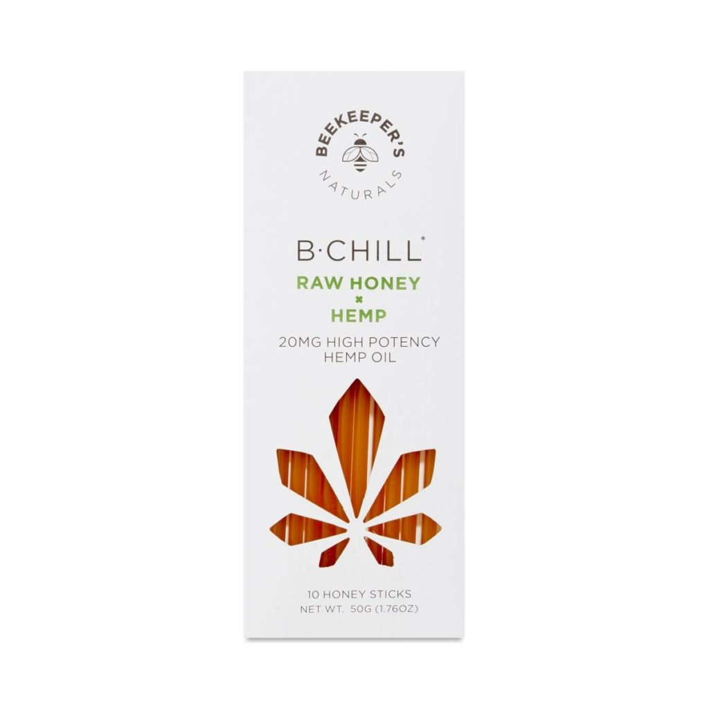 Beekeeper's Naturals B.Chill Raw Honey + Hemp Sticks $37.99