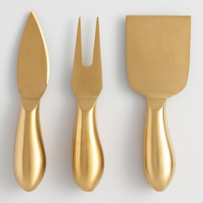 Rumbled Gold Cheese Knives 3 Pack $14.99