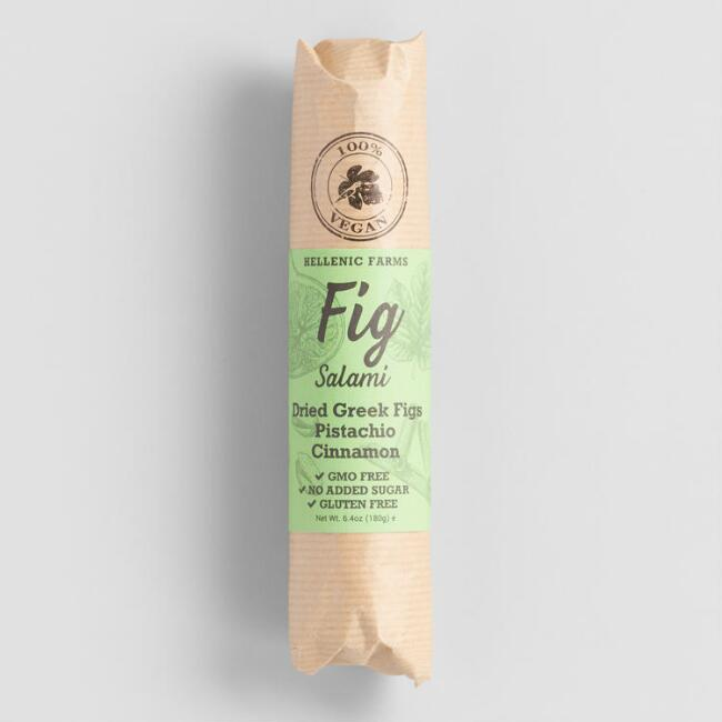 Hellenic Farms Vegan Fig Salami With Pistachio And Cinnamon $8.99