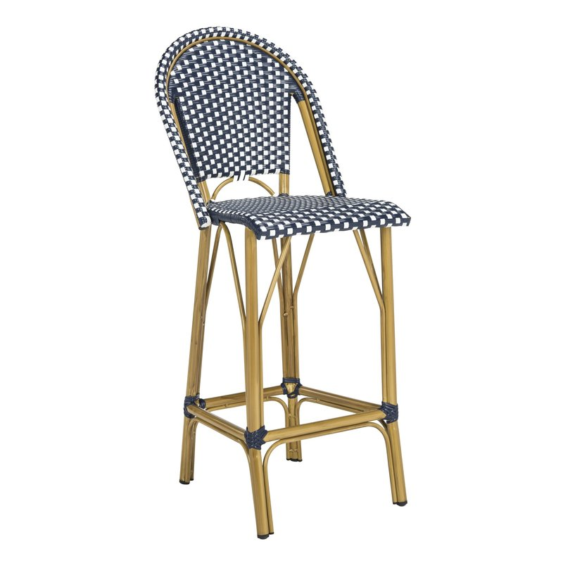 "Elle 30"" Patio Bar Stool with Cushion $194.99"