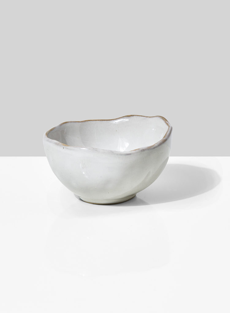 4in Freeform Edge Ceramic Potter's Bowl, Set of 4 $22.00