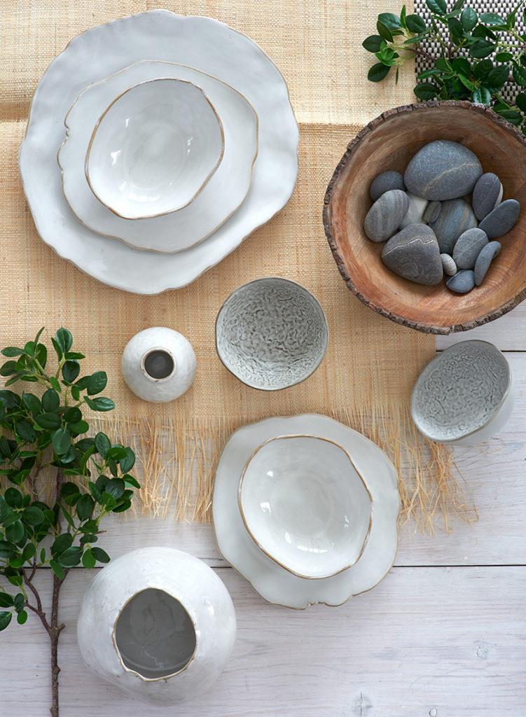 6in Freeform Edge Ceramic Potter's Bowl $7.00