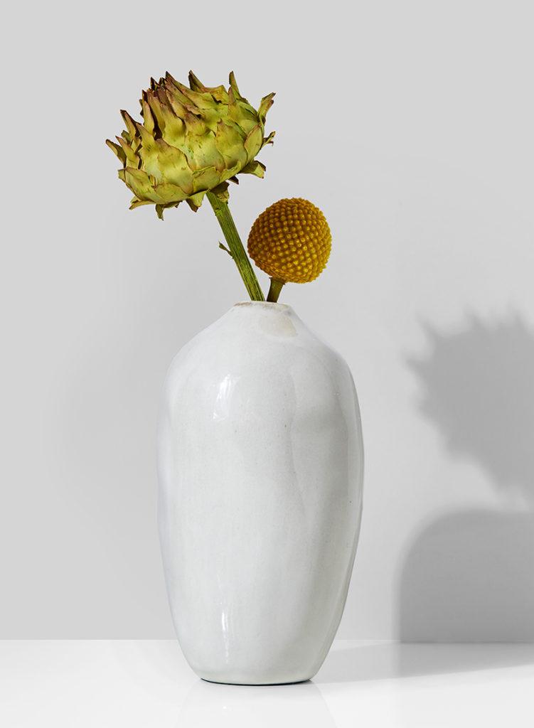 5 1/2in White Glazed Potter's Bud Vase, Set of 4 $20.00