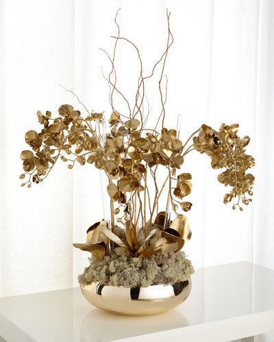 Golden Phalaenopsis Orchid Faux Floral Arrangement $865.00