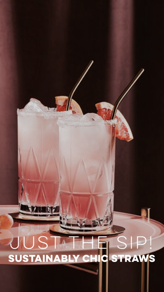 SUSTAINABLY CHIC STRAW ACTION