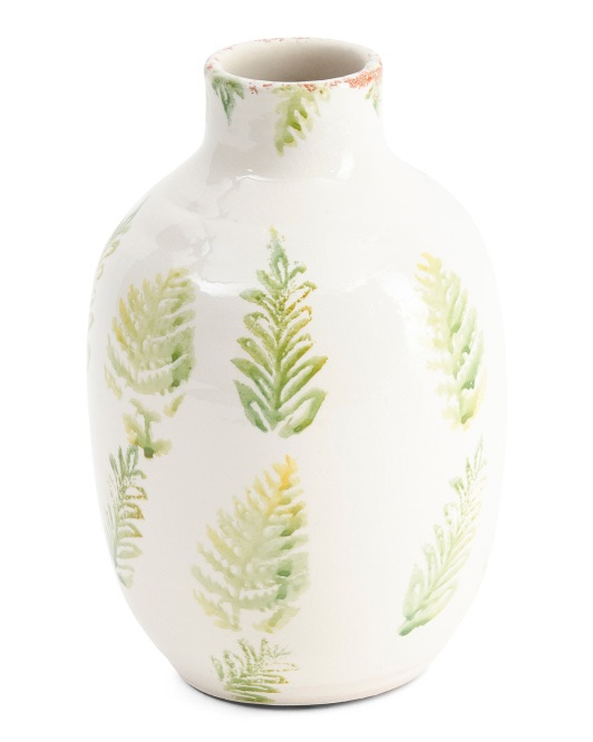 Made In Portugal Palm Ceramic Vase $12.99