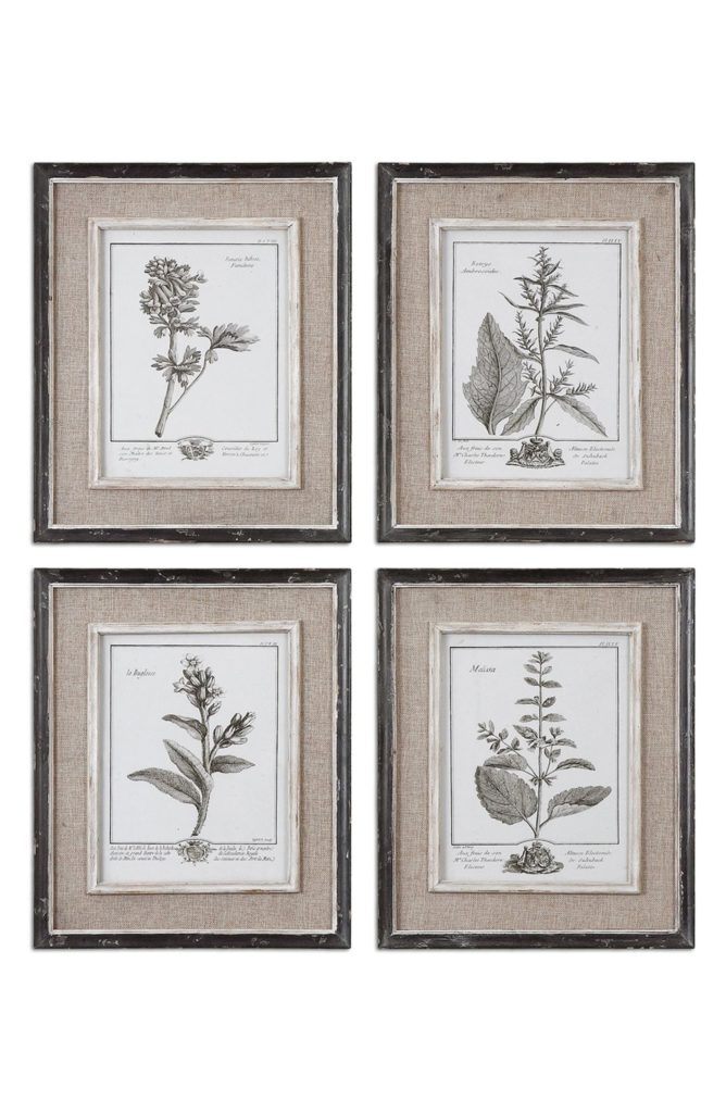 Floral Botanical Set of 6 Art Prints UTTERMOST $279.00