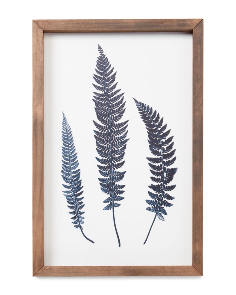 Blue Leaf Trio Wall Art $14.99