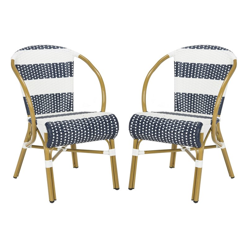 Ouatchia French Stacking Patio Dining Chair $239.99