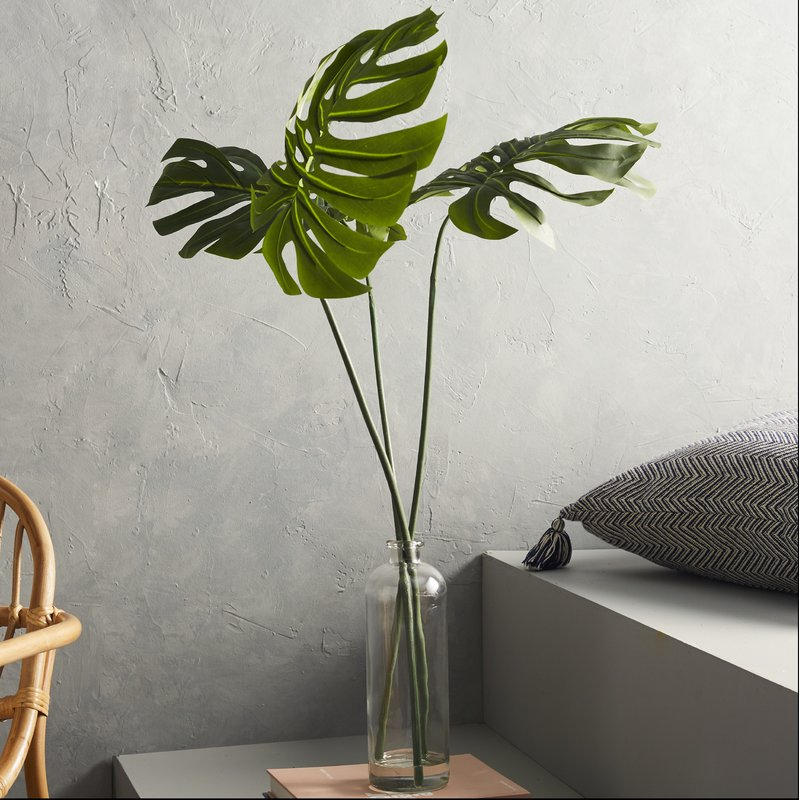 Philodendron Leaf's Plant in Decorative Vase $48.99