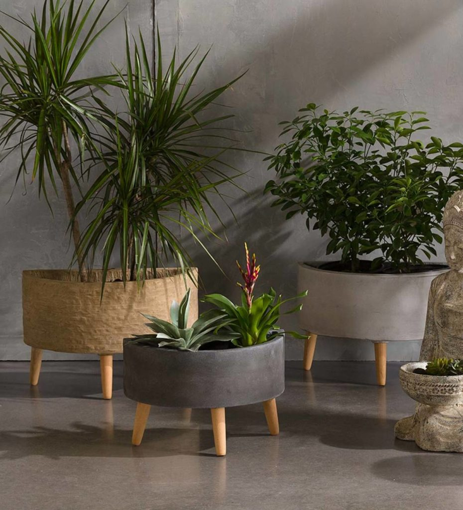 Arc Footed Planters, Set Of 2 - Terracotta $79.00