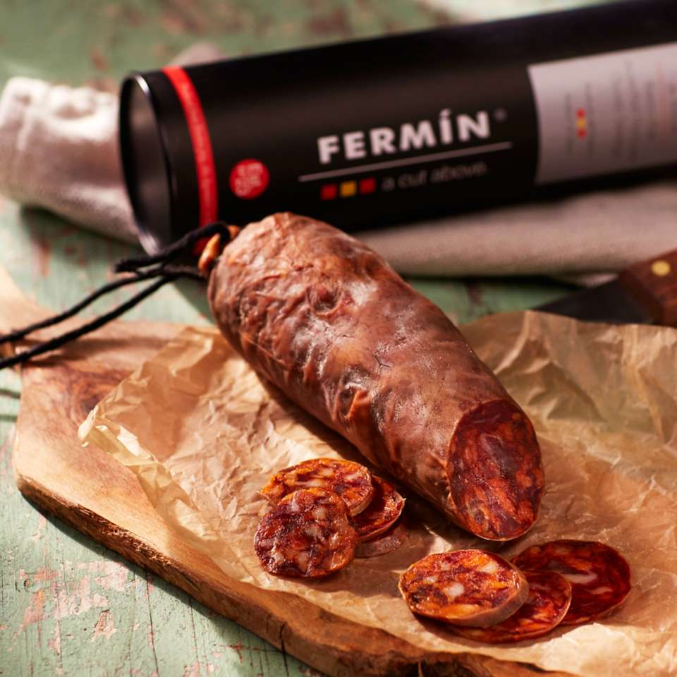 Chorizo Ibérico de Bellota Sausage by Fermín in Gift Package $36.95