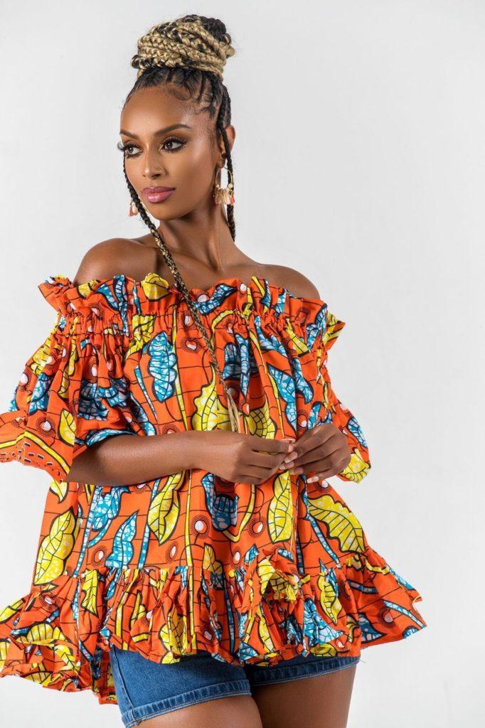 AFRICAN PRINT HABIBATOU TOp $30.00