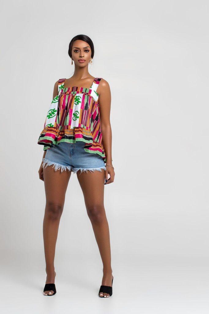 AFRICAN PRINT UNIMA TOP $26.00