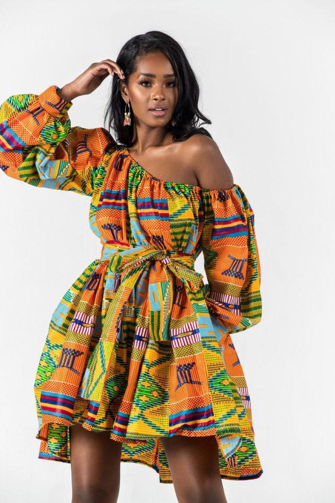 VALLETA AFRICAN PRINT DRESS $96.00