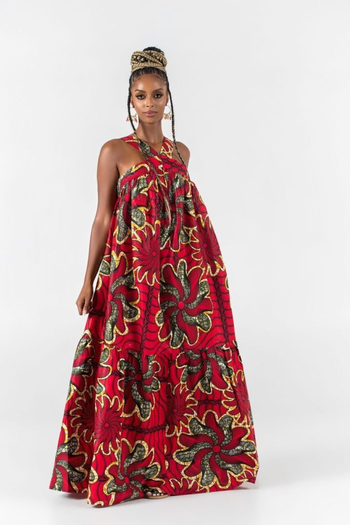 AFRICAN PRINT WISIA MAXI DRESS $68.00