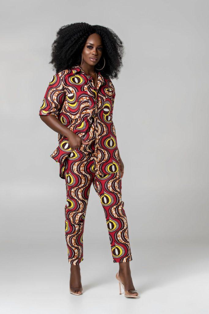AFRICAN PRINT CARLA PANTS $34.00