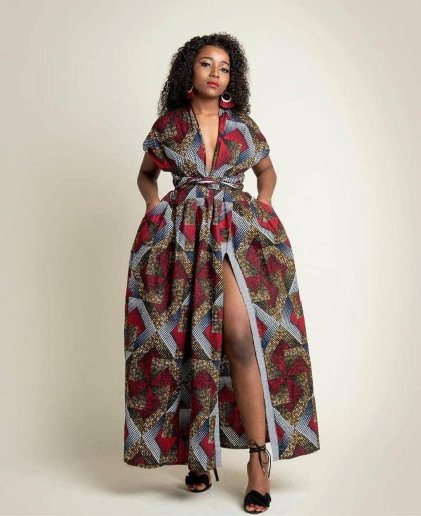 African Dressfor women/Ankara Infinity Dress/Dress/African Print $90.00