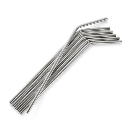 Stainless Steel Straws, Set of 6 $14.99