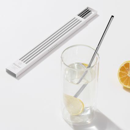 W&P DESIGN METAL PORTER STRAWS $18.00