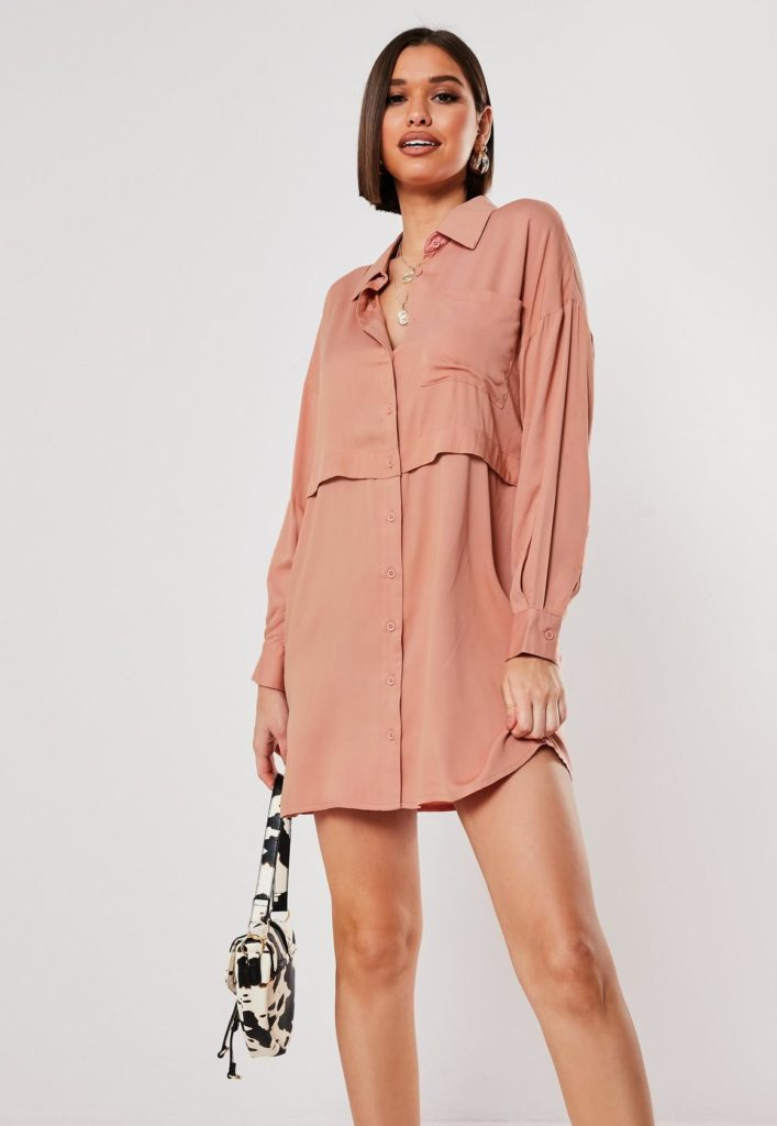 rose utility mini shirt dress $47.00
