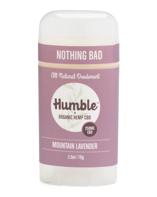 2.5in Cbd Organic Hemp Deodorant $9.99