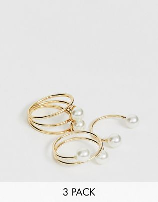 multipack pearl rings $12.00