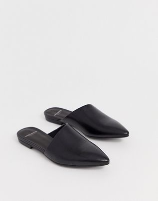 Vagabond katlin black leather pointed mules $97.00