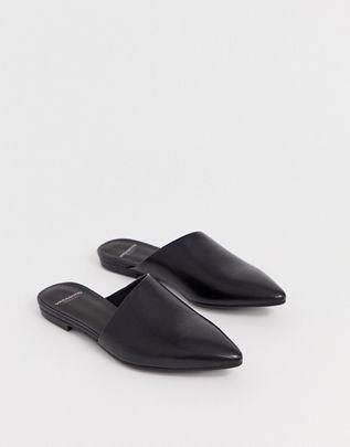 Vagabond katlin black leather pointed mules $97.00