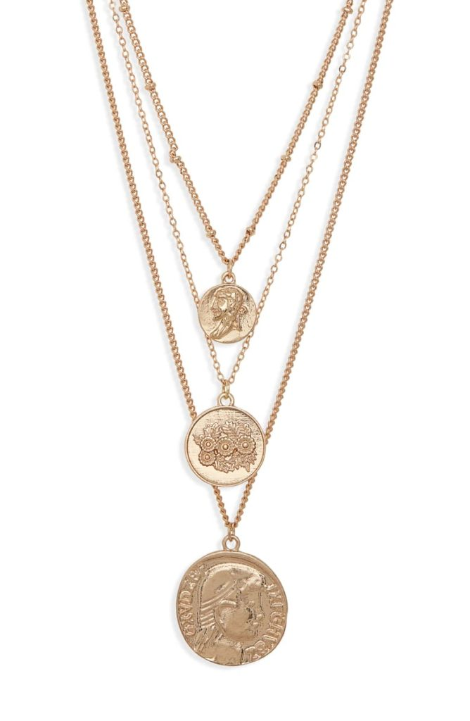 Set of 3 Medallion Pendant Necklaces $35.00