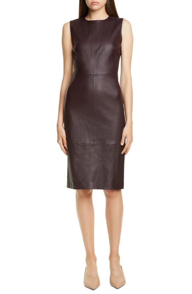 Leather Sheath Dress VINCE $995.00