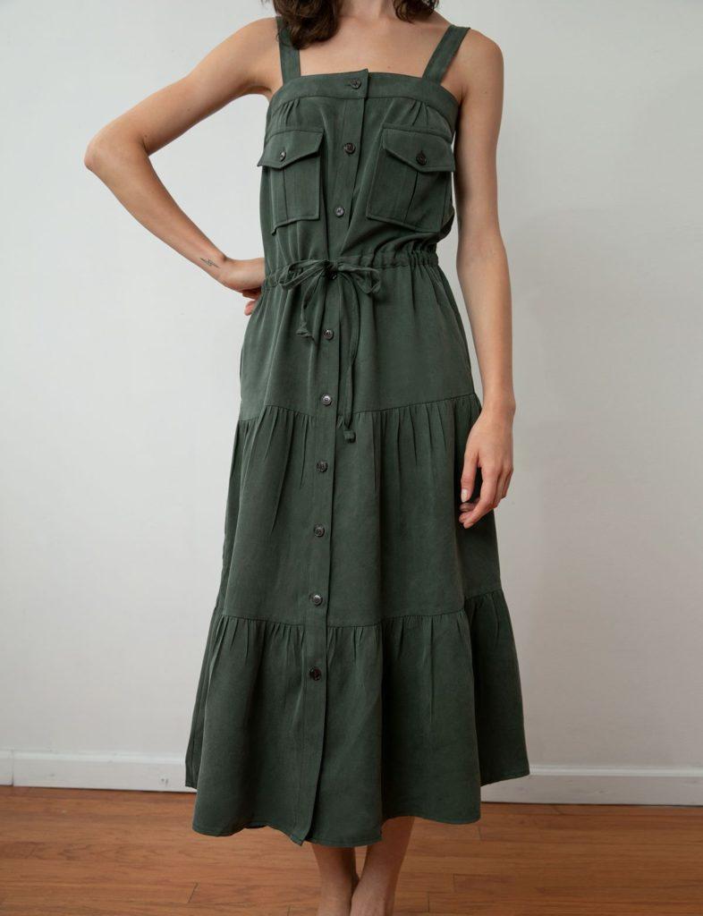 NES TENCEL UTILITY MAXI DRESS $179.00