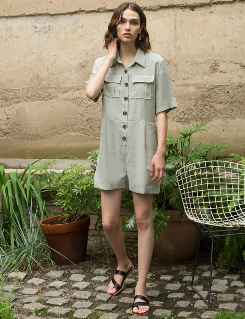 CARGO POCKET ROMPER $79.00