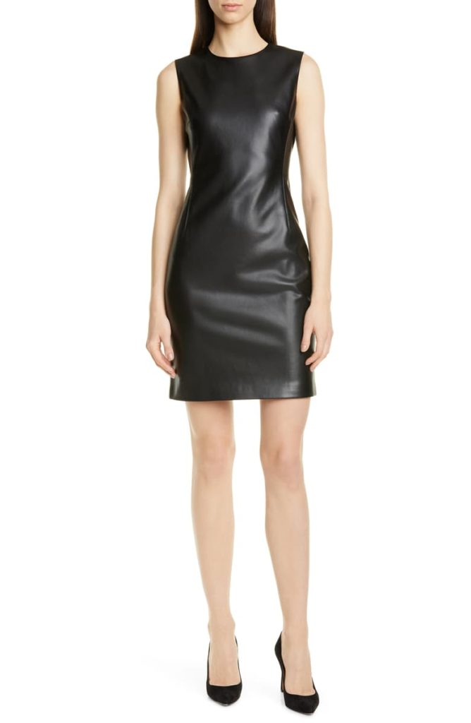 Faux Leather Sheath Dress $212.98