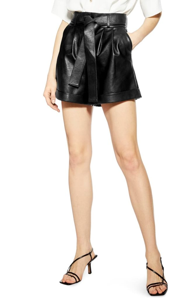 Faux Leather Shorts $60.00