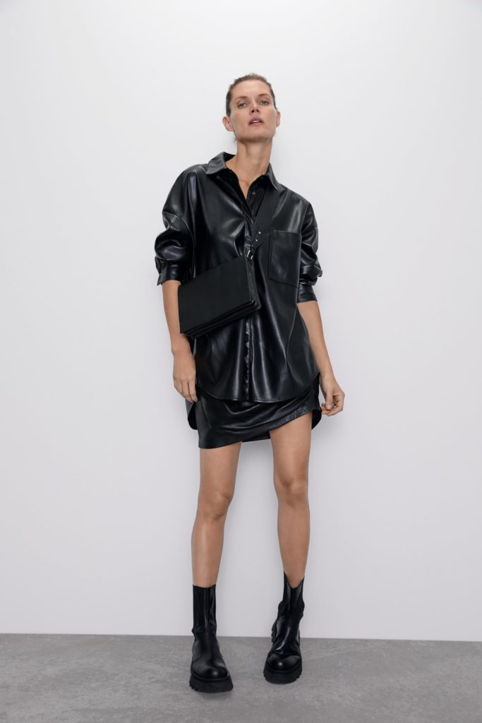 FAUX LEATHER SHIRT $69.90