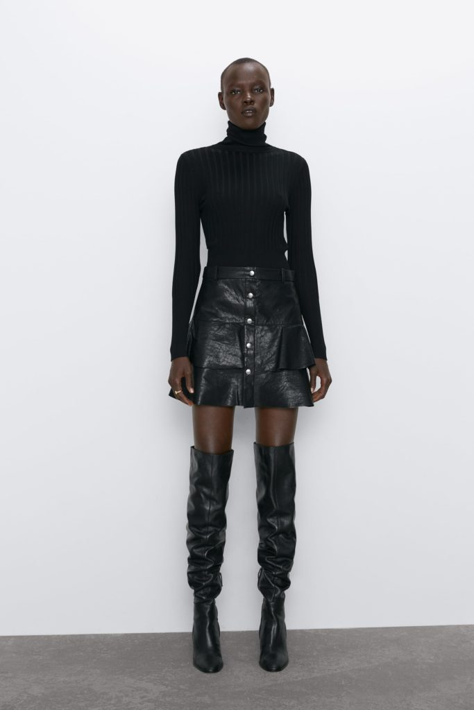 FAUX LEATHER SKIRT $39.90