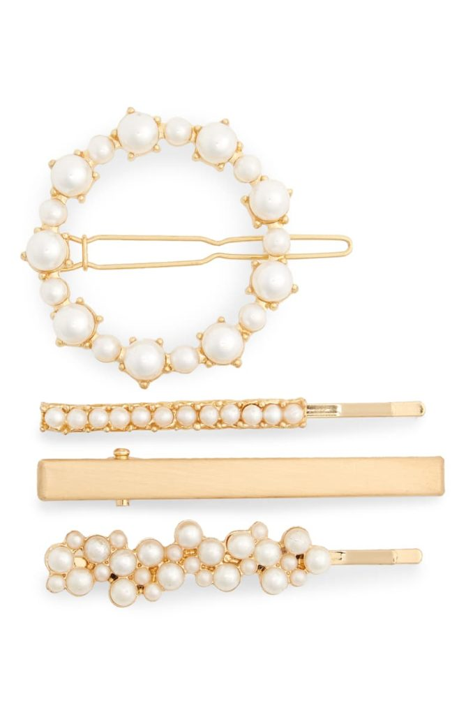 Set of 4 Imitation Pearl Hair Clips $19.00