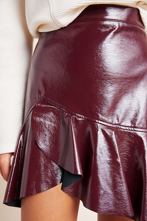 Rosie Patent Leather Skater Skirt $160.00
