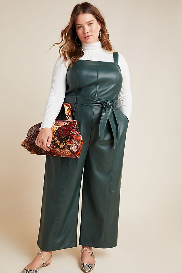 Samira Faux Leather Jumpsuit $170.00