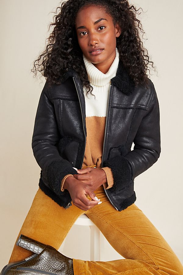Frye Shearling Leather Jacket $848.00