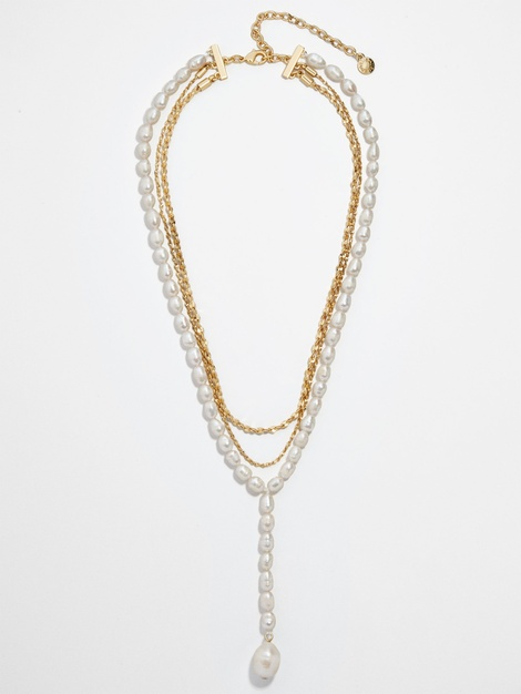 BALTIC PEARL LAYERED NECKLACE$64.00