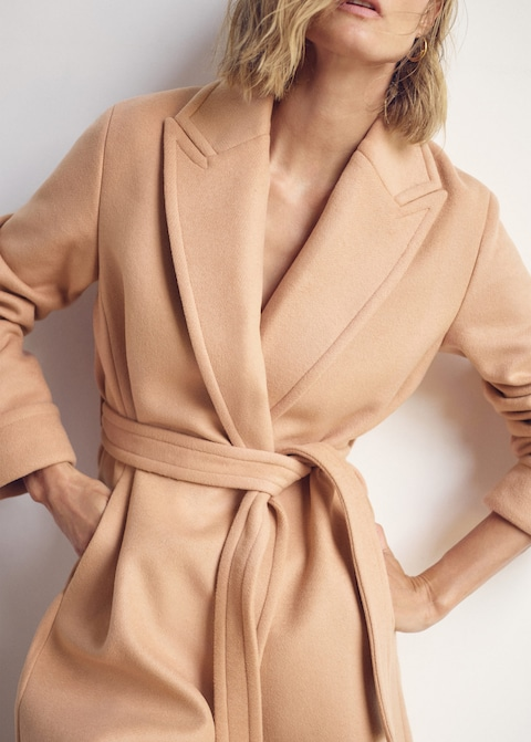 Belted wool coat $299.99