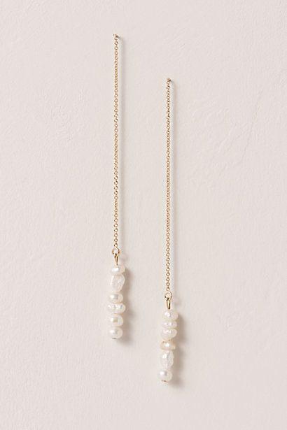 Lu Pearl Drop Earrings $115.00