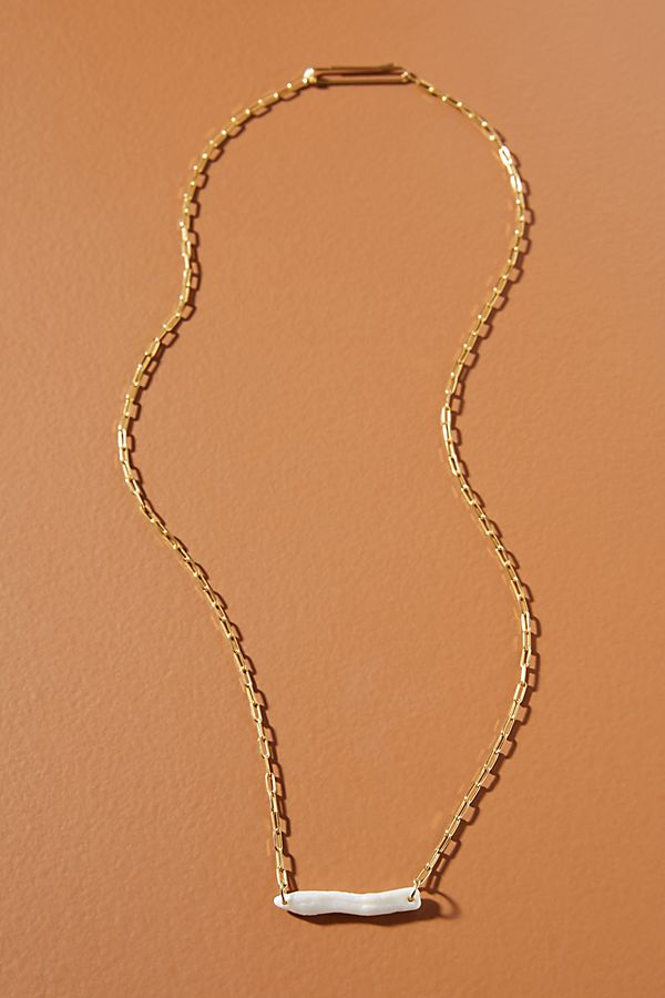 Sally Pearl Bar Necklace $48.00