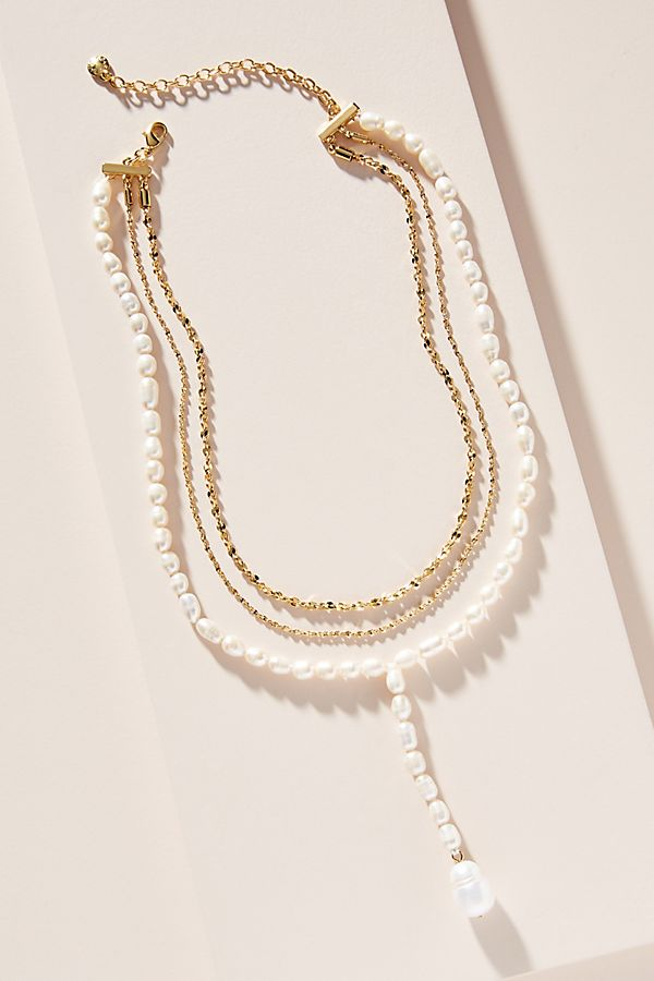 BaubleBar Pearl Chain Lariat Necklace $64.00