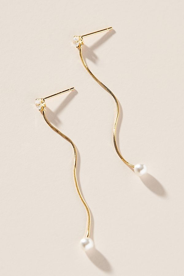 Aly Pearl Drop Earrings $38.00