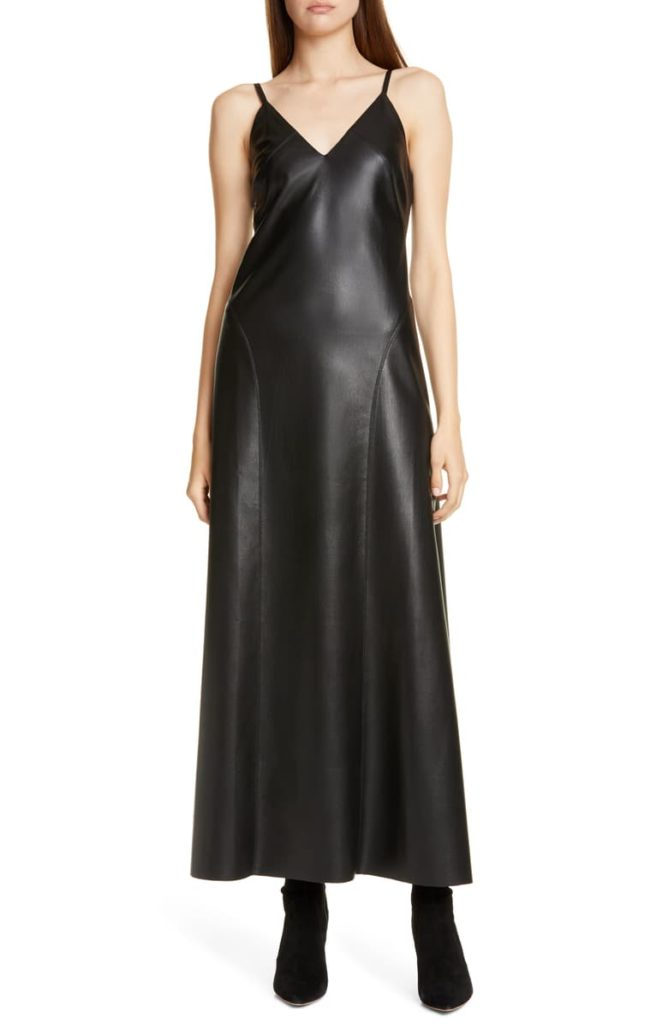 Anira Vegan Leather Maxi Dress NANUSHKA $595.00