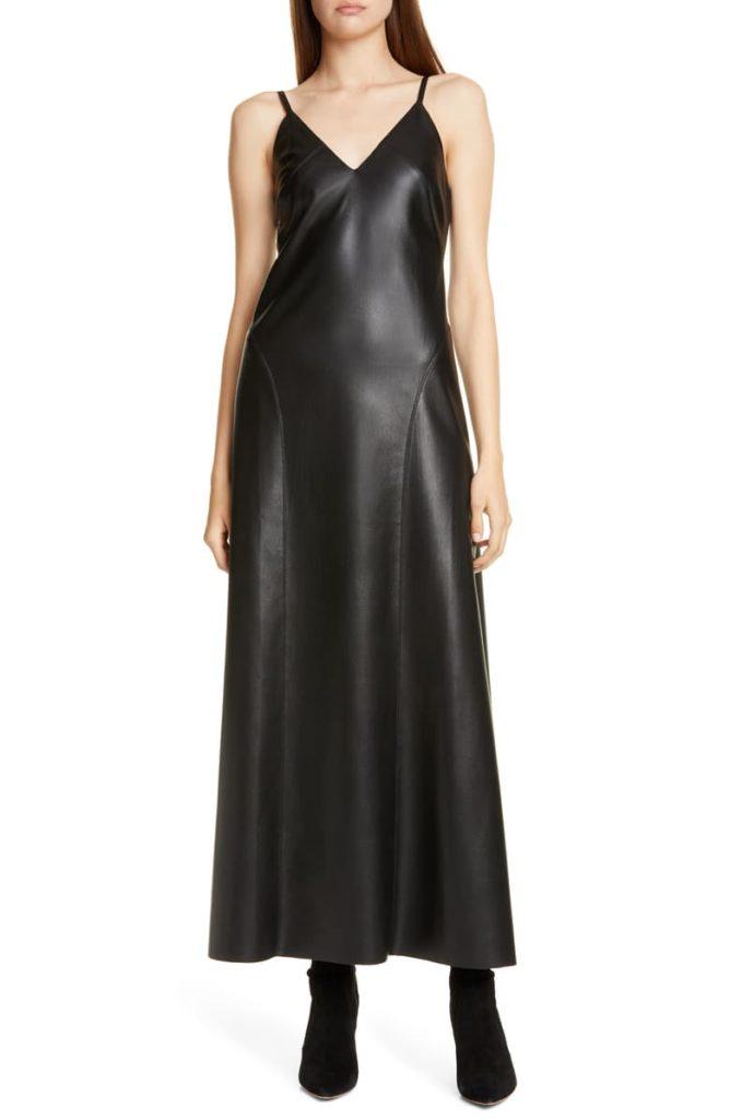 Anira Vegan Leather Maxi Dress NANUSHKA $595.00