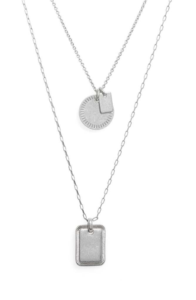 Etched Coin Necklace Set MADEWELL $42.00
